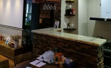 开放式厨房吧台设计施工案例