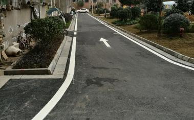 小区道路热熔标线施工案例