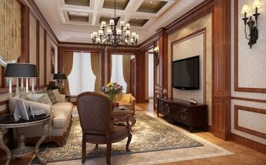南充美式客厅装修